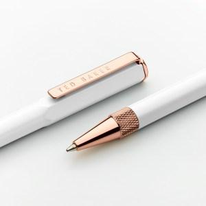 Ted Baker White Quartz Premium Ballpoint Pen