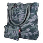New Balance Camo Print Zip Tote with Pouch