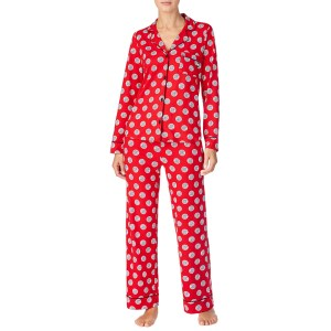 DKNY Red/Print Long Pj Set