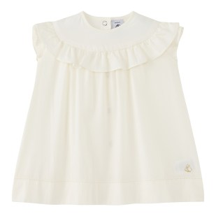 PETIT BATEAU Baby Girl's Ecru Formal Dress
