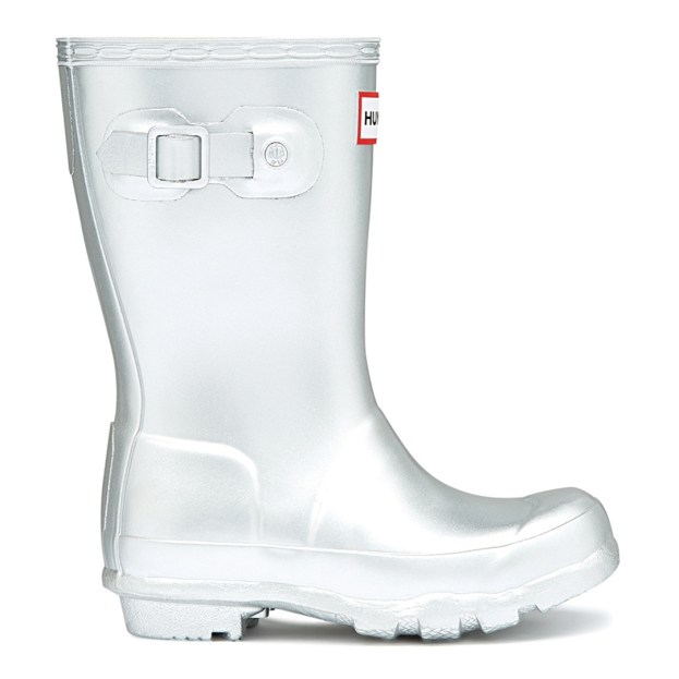 Hunter Kids Silver Original Wellies