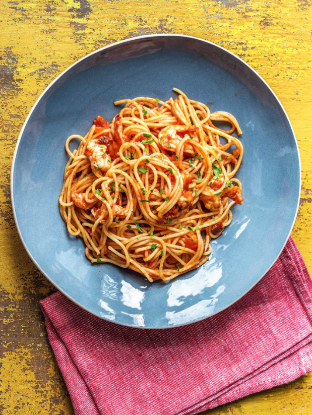 Chilli King Prawn Spaghetti, hello fresh recipe
