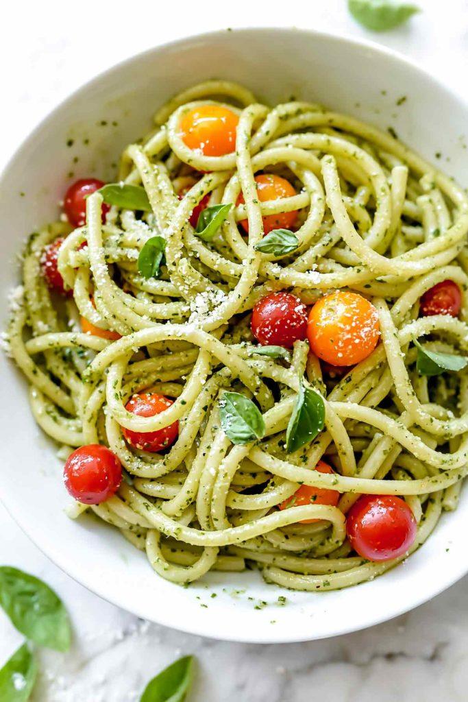 Easy homemade presto spaghetti recipe