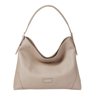 Aspinal of London Soft Taupe Small Hobo Bag