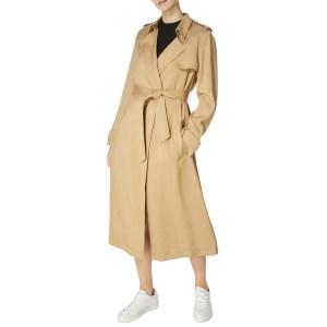 KAREN MILLEN Camel Clean Trenchcoat