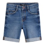 MANGO Boy's Medium Blue Bermuda Shorts