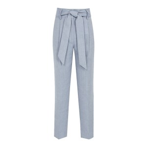REISS Blue Isabel Linen Trousers