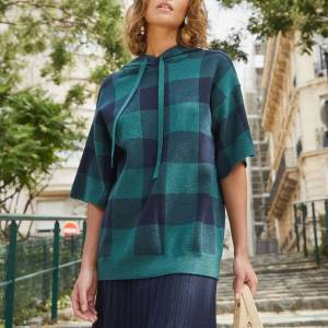 autumn fashion trends checked rodier knit
