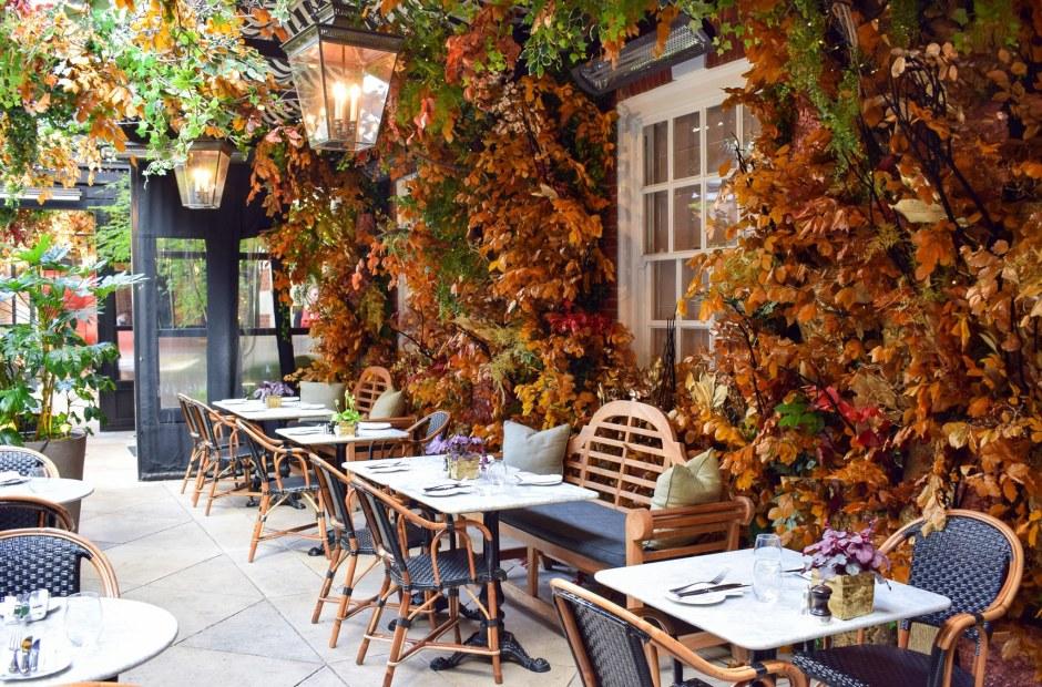 Dalloway Terrace, London restaurants, london afternoon tea, outdoor terraces