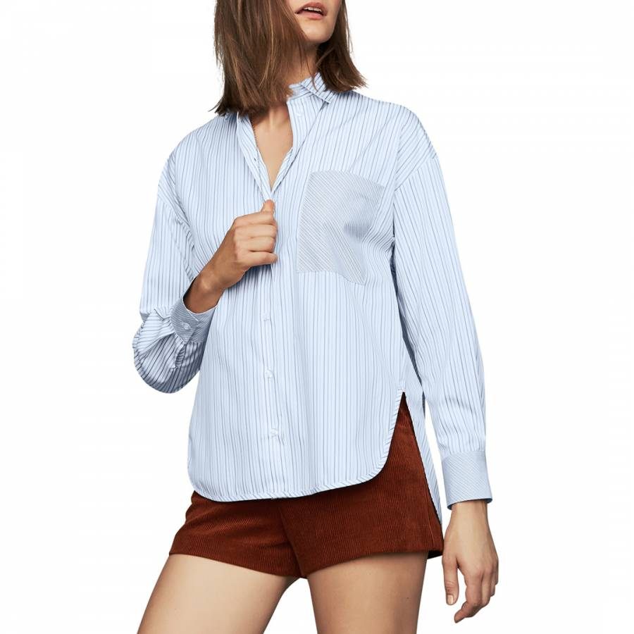Maje Blue Striped Shirt