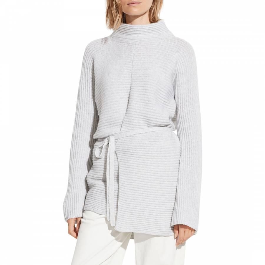 smart knitwear vince Grey Tie Front Wool/Cashmere Tunic