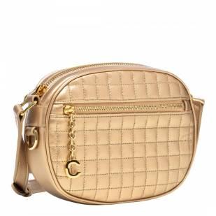 Celine Gold Small C Charm Leather Crossbody Bag - £690