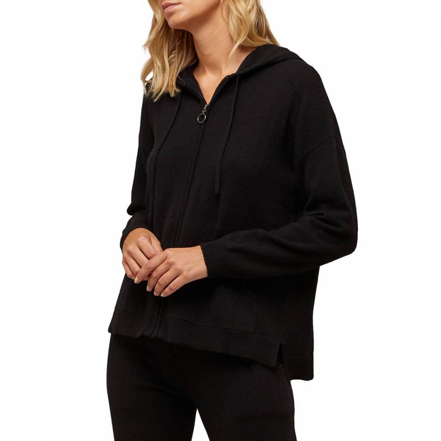 No. Eleven Black Cashmere Blend Zip Hoody - £79
