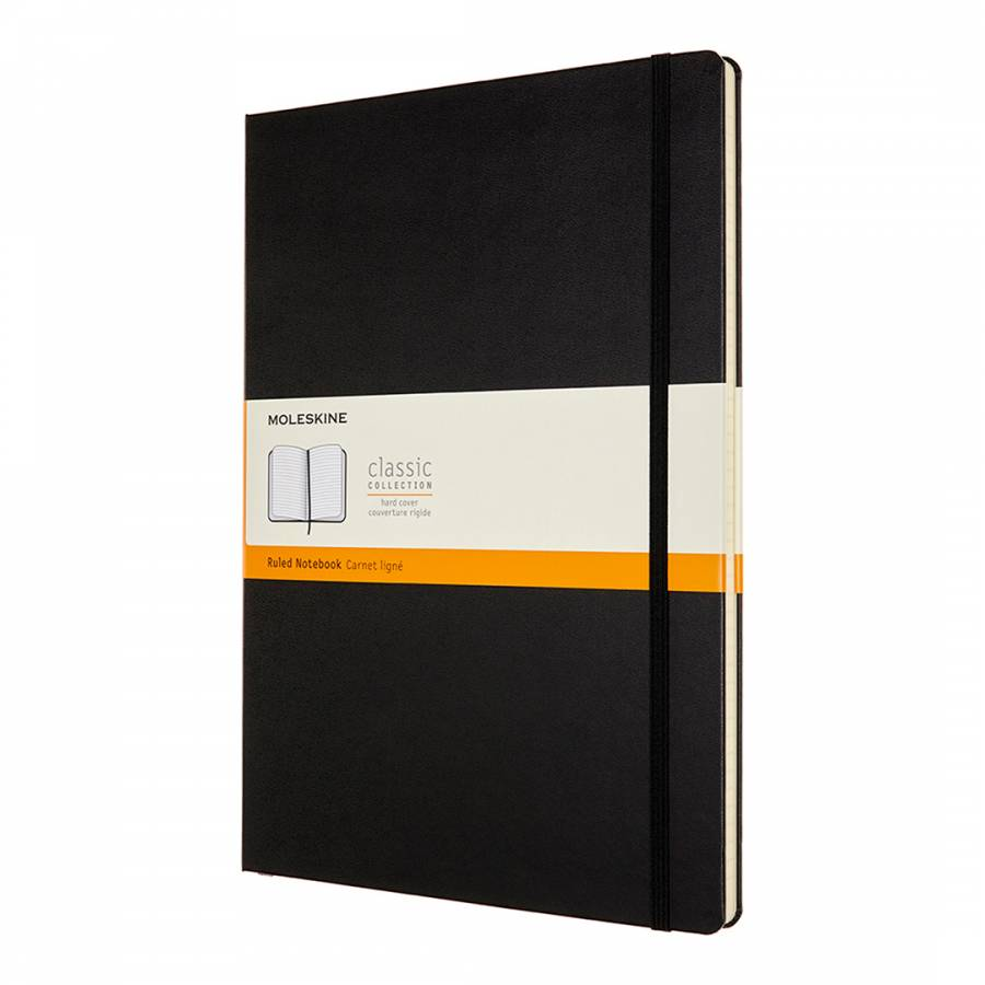 blue monday moleskine A4 ruled notebook hard cover