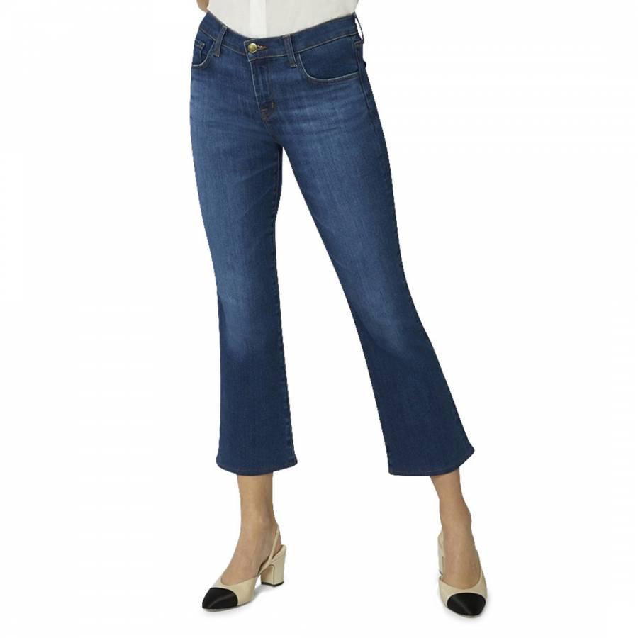 denim jeans Dark Blue Selena Boot Cut Stretch Jeans - £75