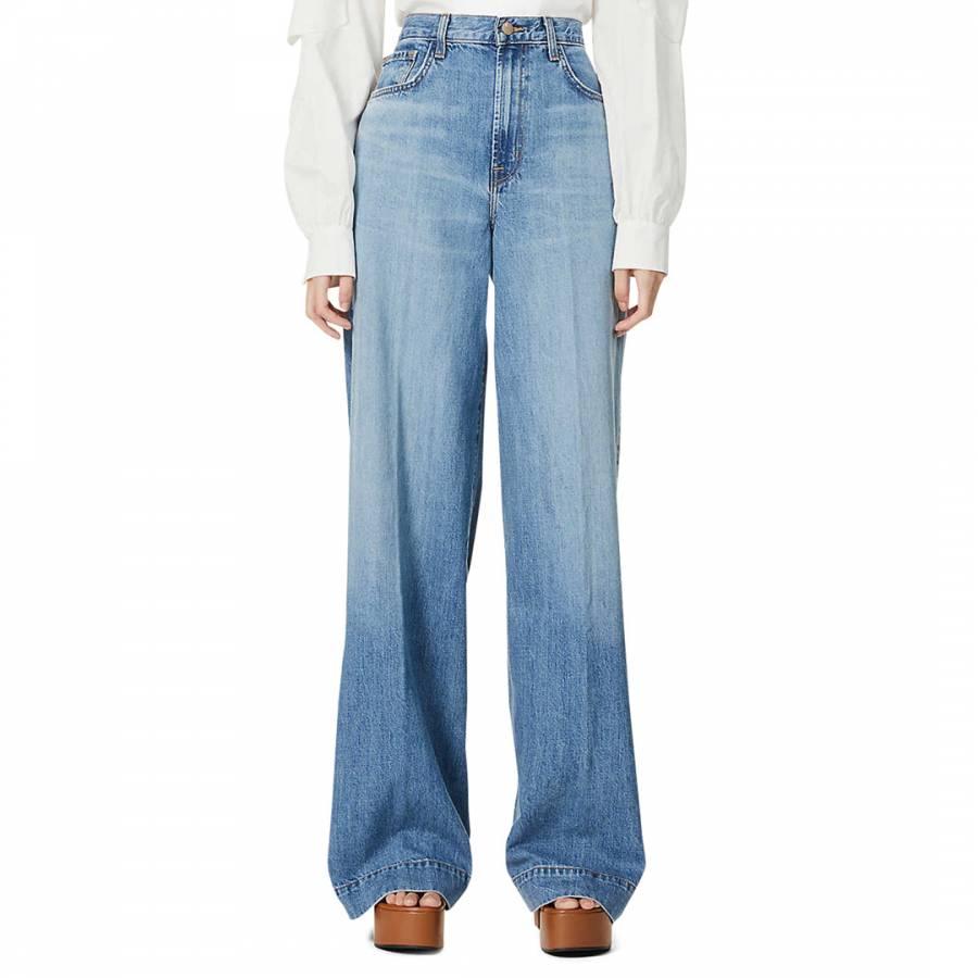 denim jeans Blue Thelma Super Wide Leg Jeans - £85