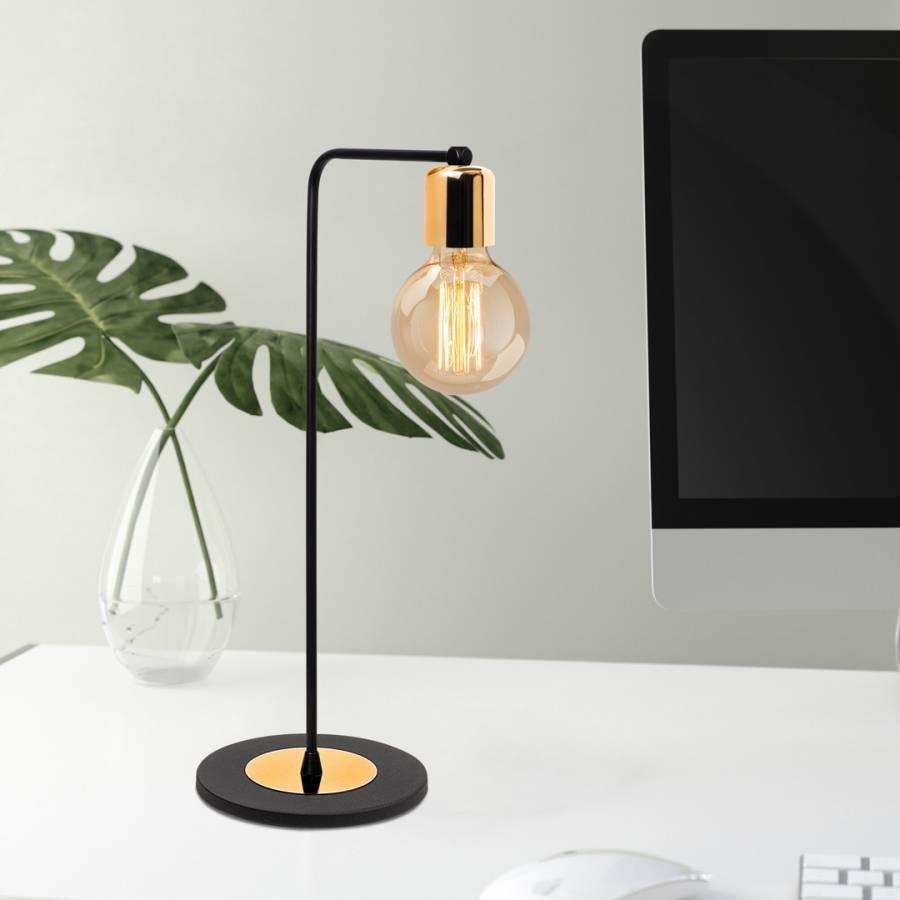 blue monday desk lamp Decortie Black/Copper Table Light