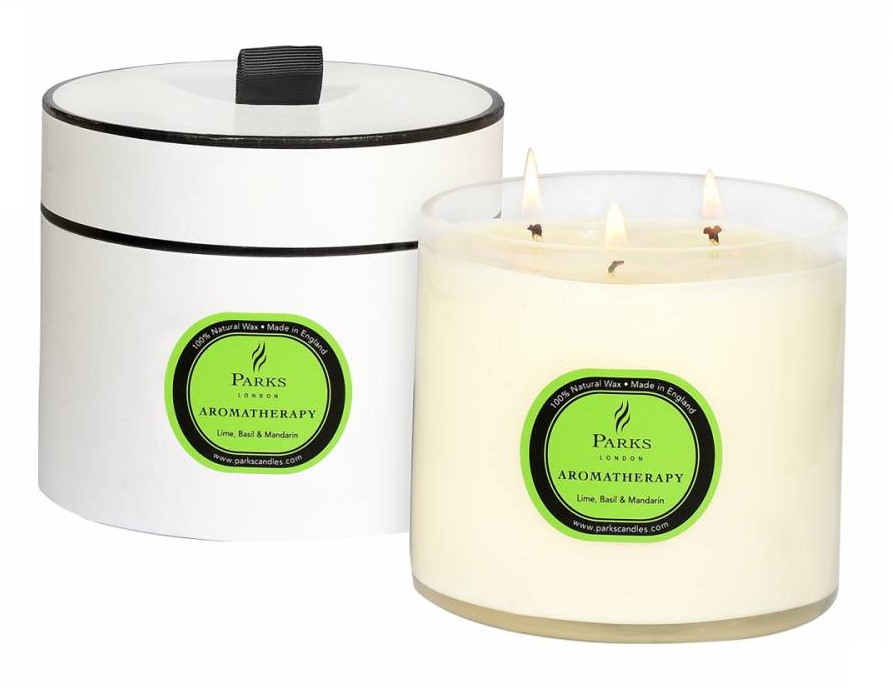beauty essentials Parks London Lime/Basil/Mandarin Aromatherapy Three Wick Candle - £25