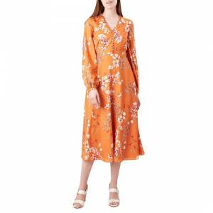 coloured clothing orange dress