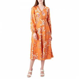 coloured clothing orange dress