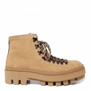 AllSaints Tan Suede Isaac Hiking Boots - £125