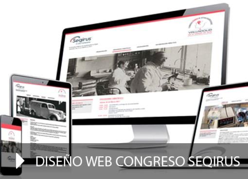 Diseño web congresos Seqirus
