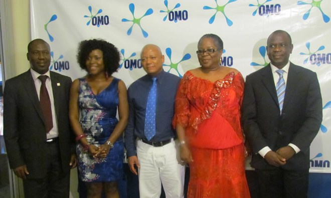 Mr Hakeem Adeniji, representing the Lagos State Commissioner for Commerce and Industry, Omawunmi, Mr Thabo Mabe, Managing Director Unilever Nig. Plc, Onyeka Onwenu, Singer Icon and Mr David Okeme, Brand Building Director, Unilever Nig Plc at the Omo 50th anniversary and relaunch celebration.