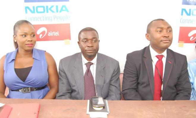 Chioma Okolie, Corporate Social Responsibility Specialist, Airtel Nigeria; Orunsolu Adebayo, Official of Lagos State Ministry of Education Science & Technology and John Edokpolo, Legal Counsel & Head, Corporate Relations, Nokia West Africa