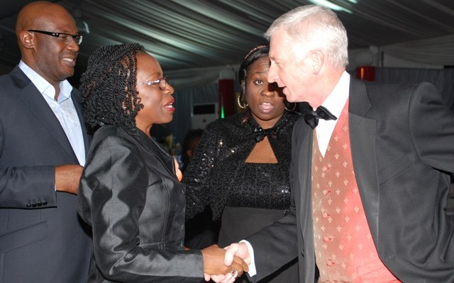 APCON Chairman, Lolu Akinwunmi; Marketing Services Director, Nestle Plc, Iquo Ukoh; AAAN President and outgoing Chairman, LAIF, Bunmi Oke and CEO Etisalat and Chairman of Event, Mr. Steve Evans.