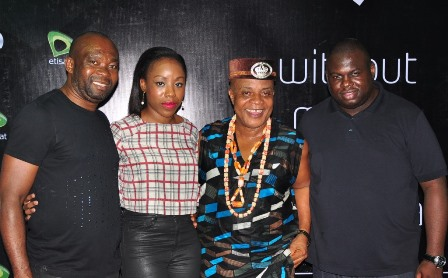 (L-R): Head, South South Region, Etisalat Nigeria, Enekwachi Aja; Head, Corporate Communications, High Value Events & Sponsorships, Etisalat Nigeria, Ebi Atawodi; Highlife legend, Bright Chimezie and Head Mass Market, Etisalat Nigeria , Idowu Adesokan, at the Port Harcourt session of Etisalat Cloudnine, held at Lamborghini Lounge, GRA Port Harcourt on on Saturday.