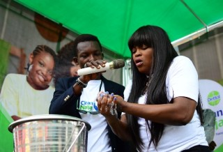 Funke Akindele Global Handwash day
