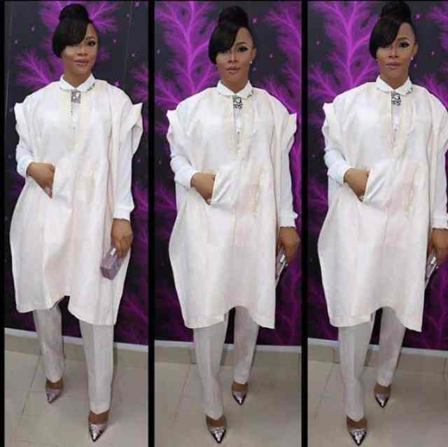 Pure-White-Agbada-Dresses Agbada Outfits for Women - 20 Ways to Wear Agbada in Style