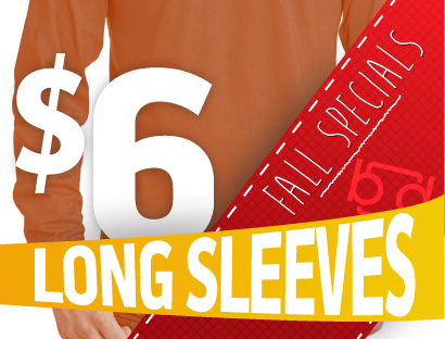 $6 Long Sleeve Tees at Branded