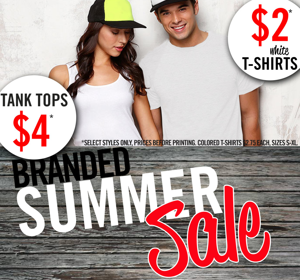 Summer sale branded 4 tank tops 2 white t 39 s branded for Reno t shirt printing