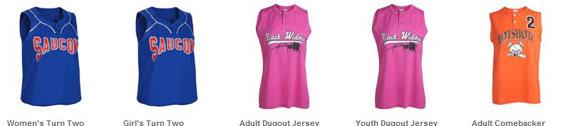 Two Button Softball Jerseys