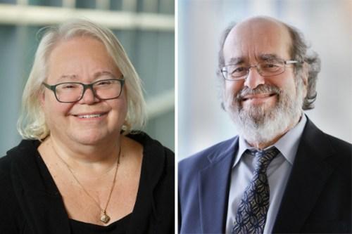 headshots of University Professors Eve Marder, left, and Irv Epstein