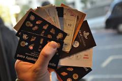 So many coffee loyalty cards, by Nick Webb