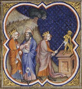Kuningas Asa tuhoaa epäjumalat.