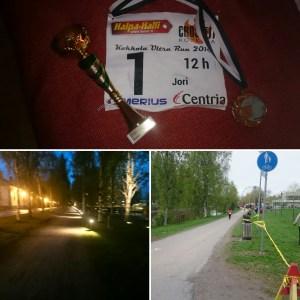 Tulosluettelosta: 3. Sija Jori Brander (Rauhalahti Road Runners) 126 kierrosta, matka 108,9766 km.