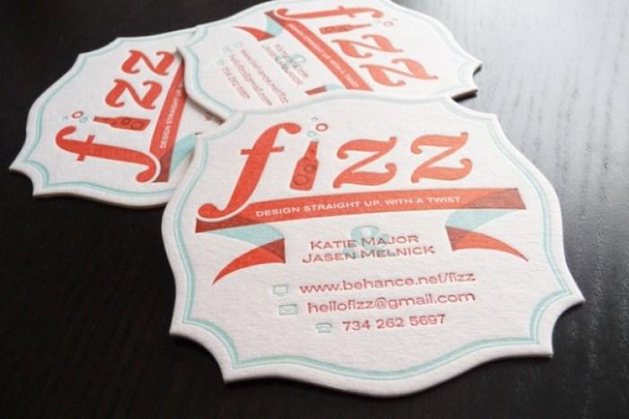 15 slick letterpress business cards branding identity design fizz business coasters letterpress card design 01 reheart Gallery
