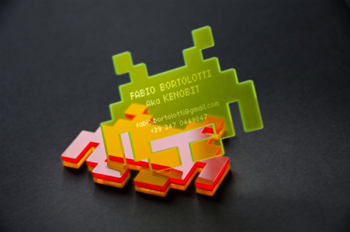 Invader business card deign 07