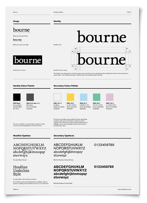 19 minimalist style guides branding identity design rh brandingidentitydesign com Branding Template Nature of Corporate Branding