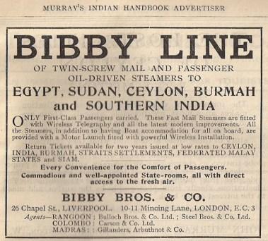 Bibby Line advertisement