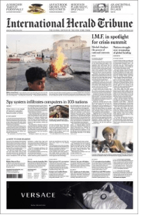 International Herald Tribune Redesign