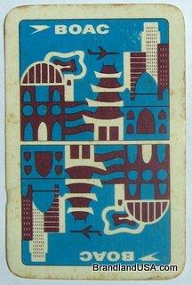 BOAC Playing Card, 1973