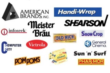 Old brands for sale include Pom Poms, Victrola, Handi-Wrap, Shearson and Handi-Wrap