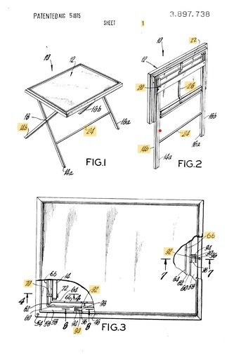 Patent for a table