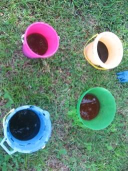 Sand beach buckets