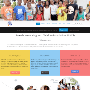 Pamela Iweze foundation site