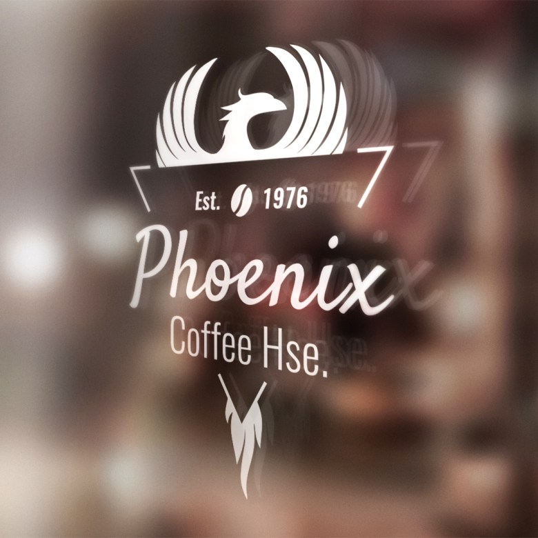 Brandner Graphics Daily Logo Challenge Day 6 Coffee Shop - Glass Vinyl